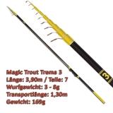 Quantum Teleforellenrute 3.90m Magic Trout Trema 3 mit 3-8g WG