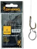 Browning Feeder Trophy Fish Vorfachhaken, Madenring, 75cm 6 Stück