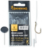 Browning Feeder Leader Method Push Stop Vorfachhaken, 10cm 6 Stück