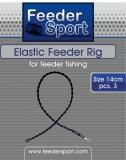 Feedersport Elastic Feeder Rig 3 Stk. 8cm oder 14cm