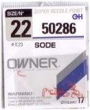 Haken Owner Sode rot (50286) Größe 10-22